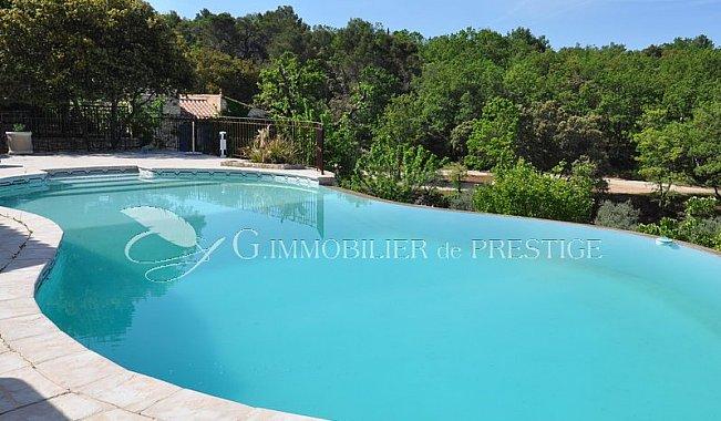 Immobilier prestige vaucluse saint didier villa piscine for Piscine miroir vaucluse