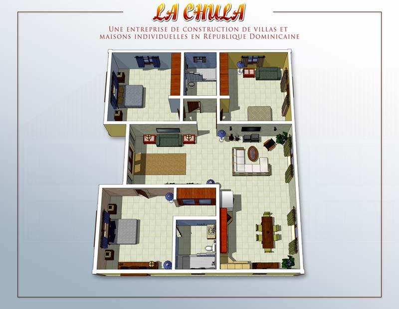 Maison De Luxe Plan 100m2 2 Etages